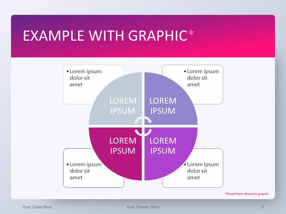 Free Pink Gradient PowerPoint Template - SmartArt Graphic