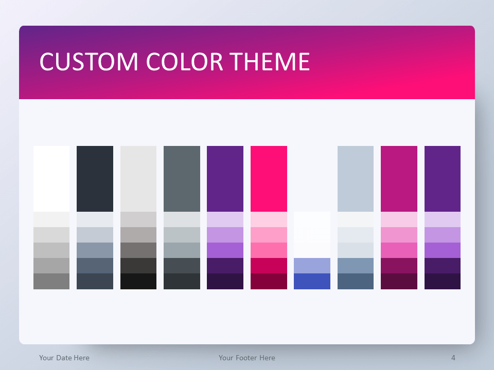 Free Pink Gradient PowerPoint Template - Custom Color Theme