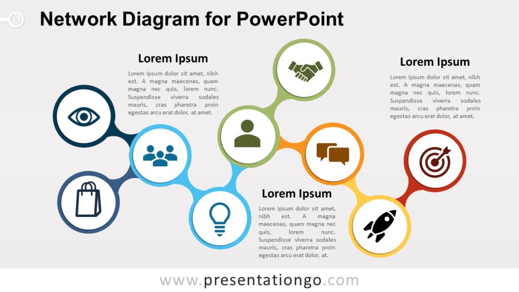Free Network PowerPoint Diagram