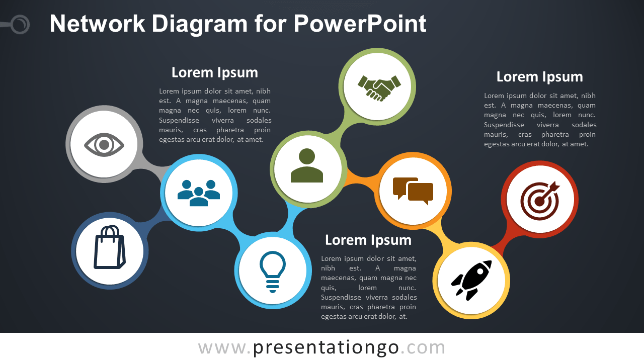 Free Network PowerPoint Diagram Template