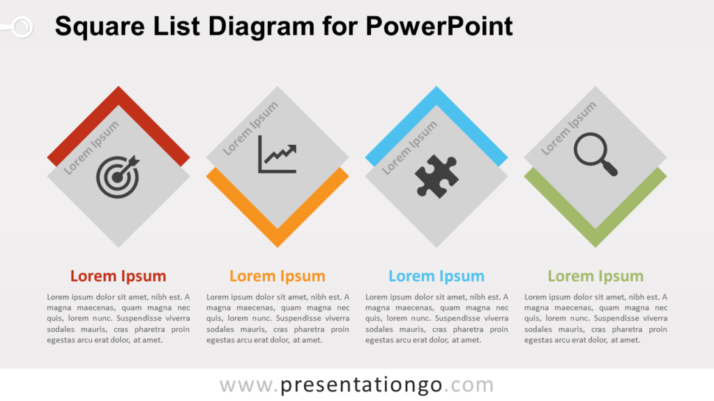 Free Square List for PowerPoint