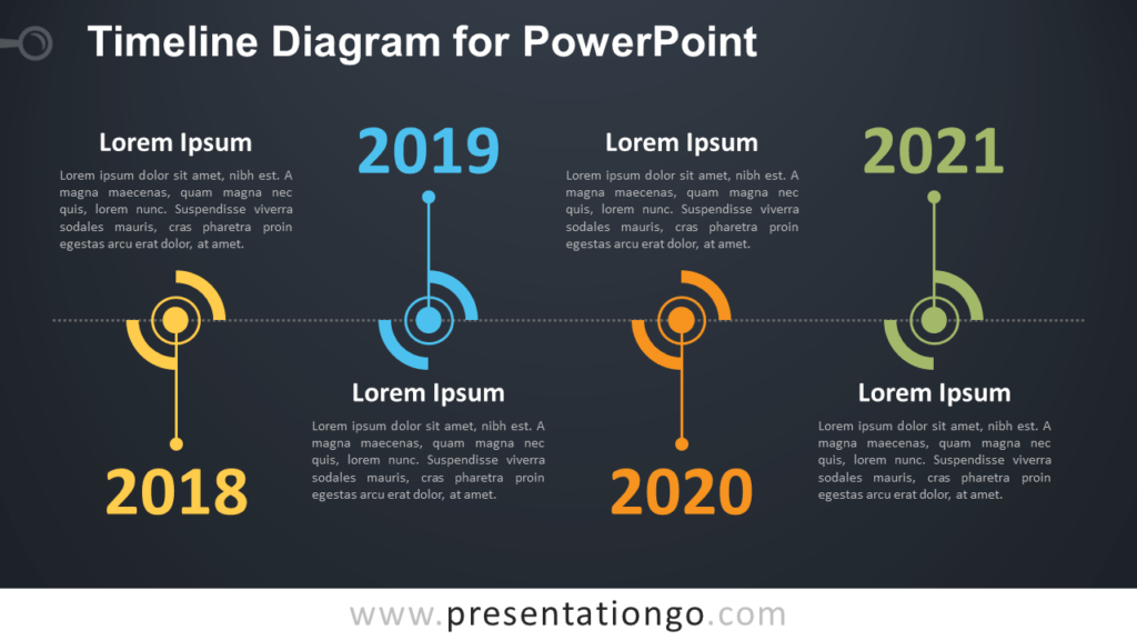 Free Timeline PowerPoint Diagram Template