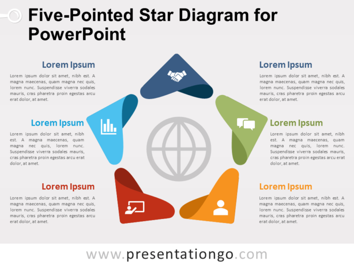 Free Five-Pointed Star Diagram for PowerPoint