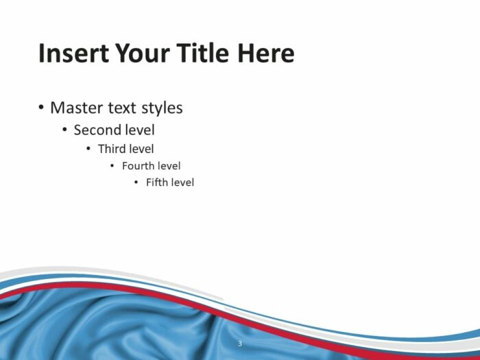 Free Flag Luxembourg PowerPoint Template - Slide 3