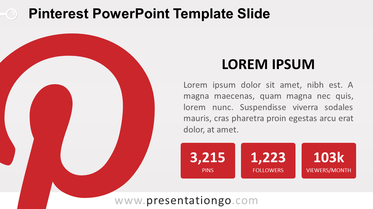 Free Pinterest PowerPoint Slide