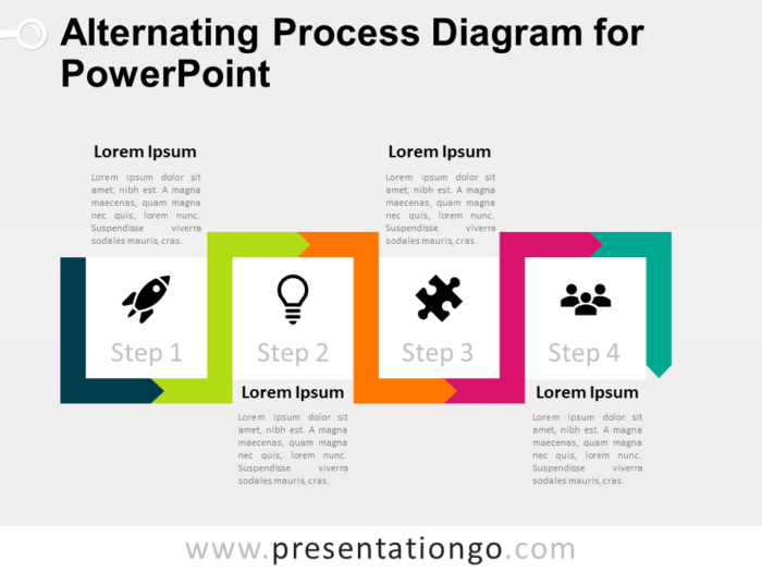 Free Alternating Process Diagram for PowerPoint
