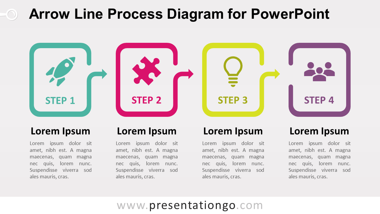 Free Arrow Line Process for PowerPoint