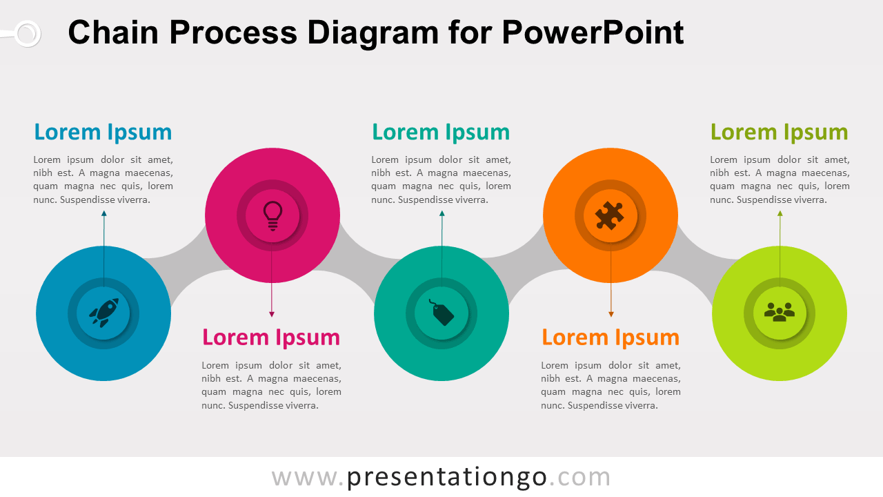 Chain Process - Free PowerPoint Diagram