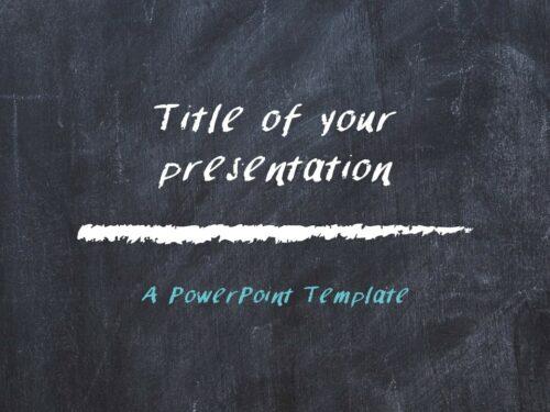 Free Chalkboard PowerPoint Template - Cover Slide