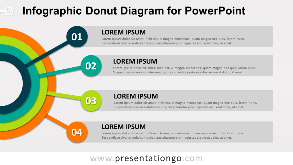 Free Donut Diagram for PowerPoint
