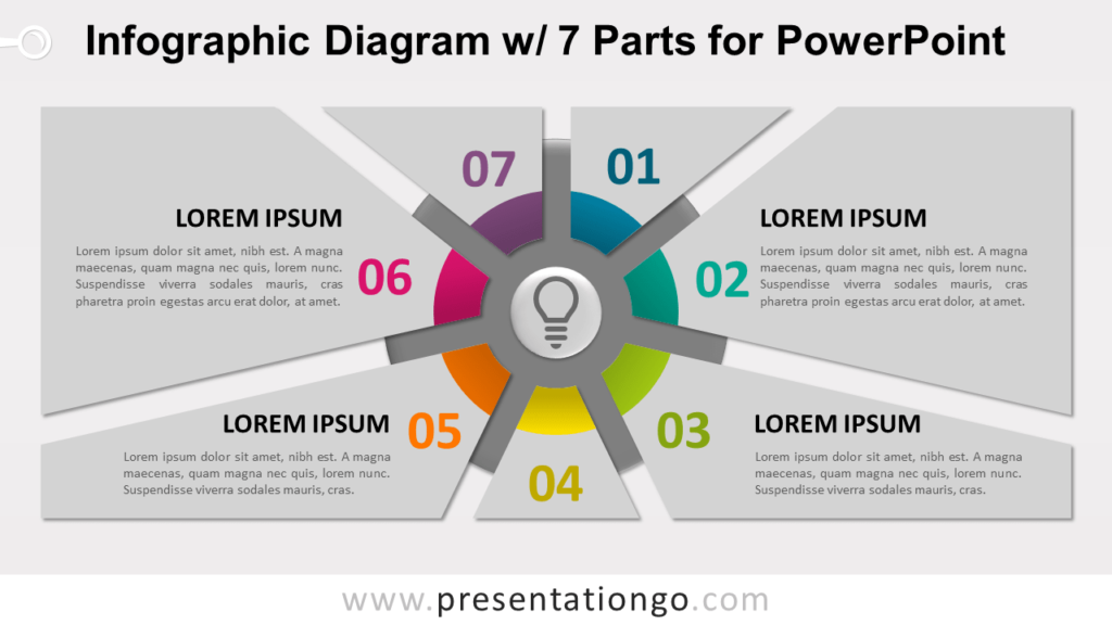 Free Infographic Diagram with 7 Parts PowerPoint Template - Slide 2
