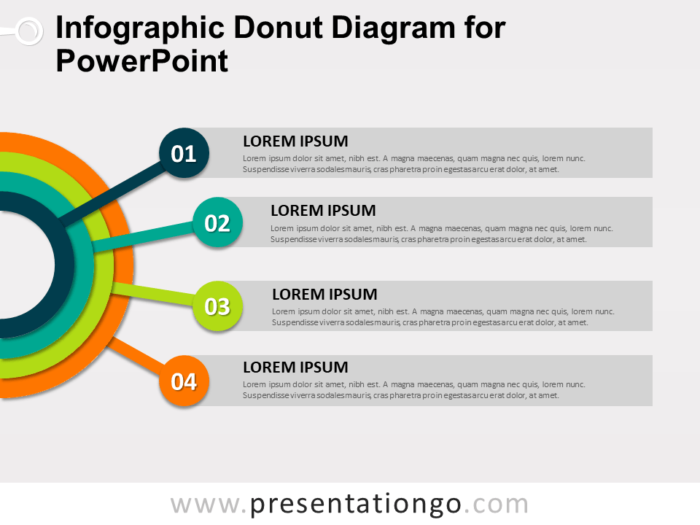 Free Infographic Donut Diagram for PowerPoint