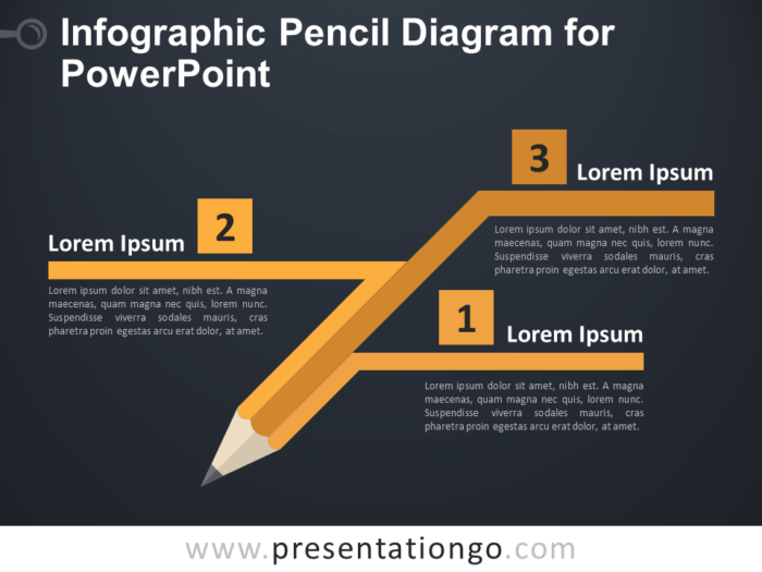 Free Infographic Pencil Diagram PowerPoint Template