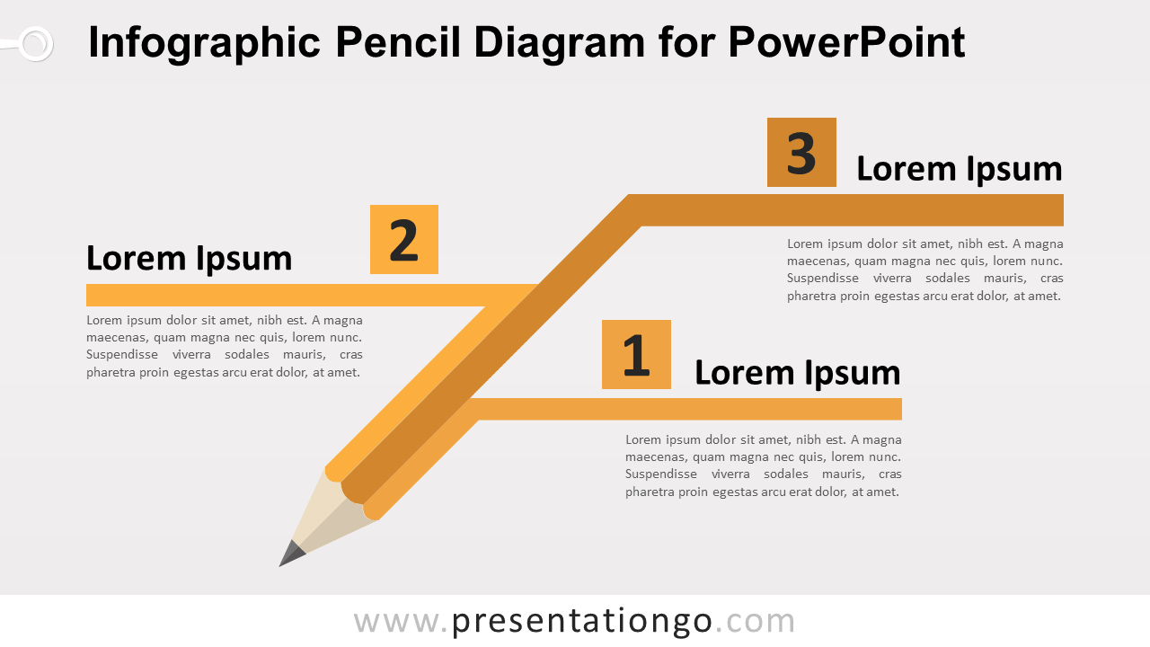 Free Pencil Diagram for PowerPoint