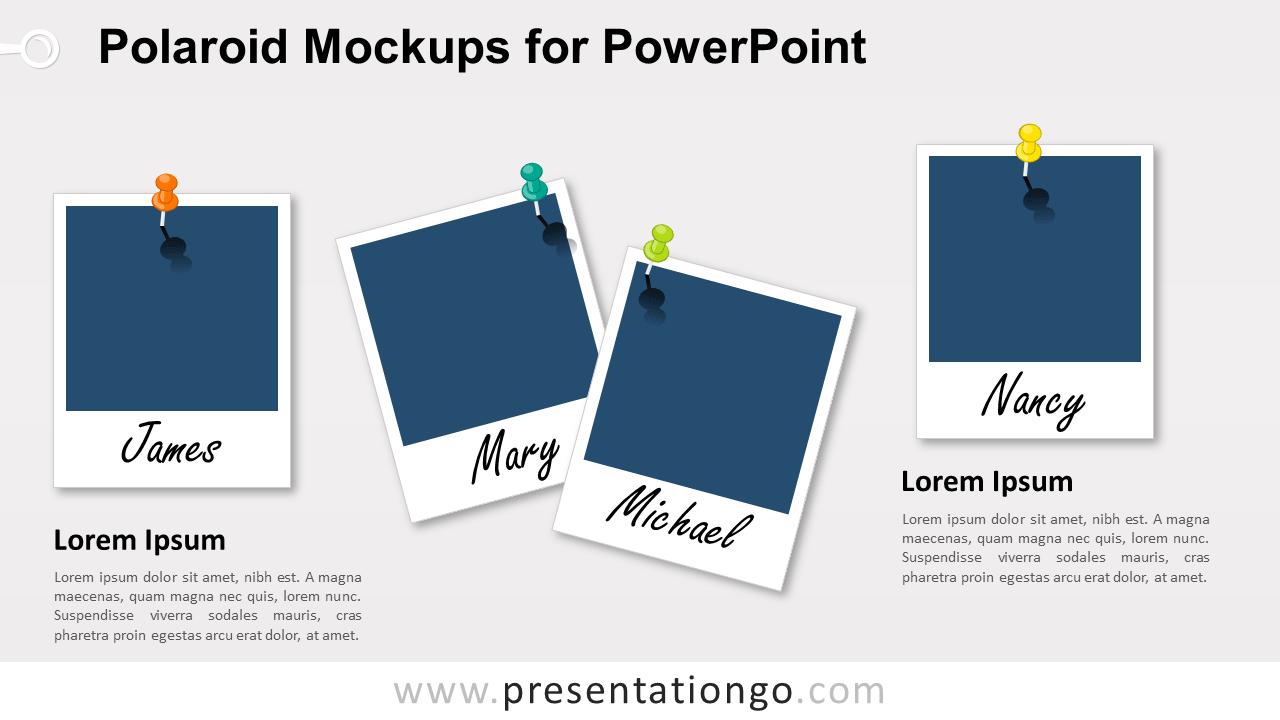 Free Polaroid Frames for PowerPoint (Blank Frames)