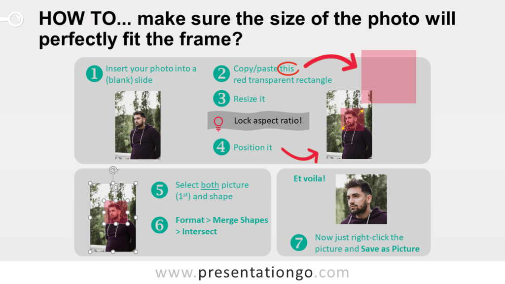 Polaroid Frames for PowerPoint - Instructions (Picture Resize)