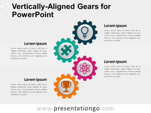 Free Vertically-Aligned Gears for PowerPoint