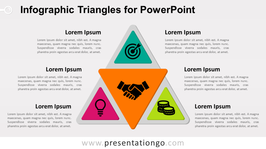 Free Infographic Triangles PowerPoint Template