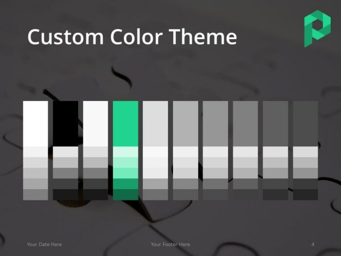 Free Jigsaw Puzzle PowerPoint Template (Dark) - Color Theme