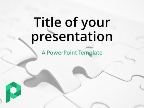 Free Jigsaw Puzzle PowerPoint Template (Light) - Cover Slide