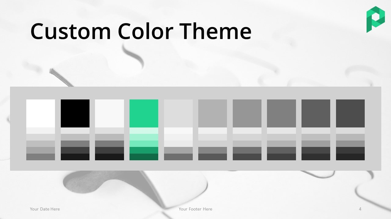 Free Jigsaw Puzzle Template for PowerPoint (Light) - Color Theme