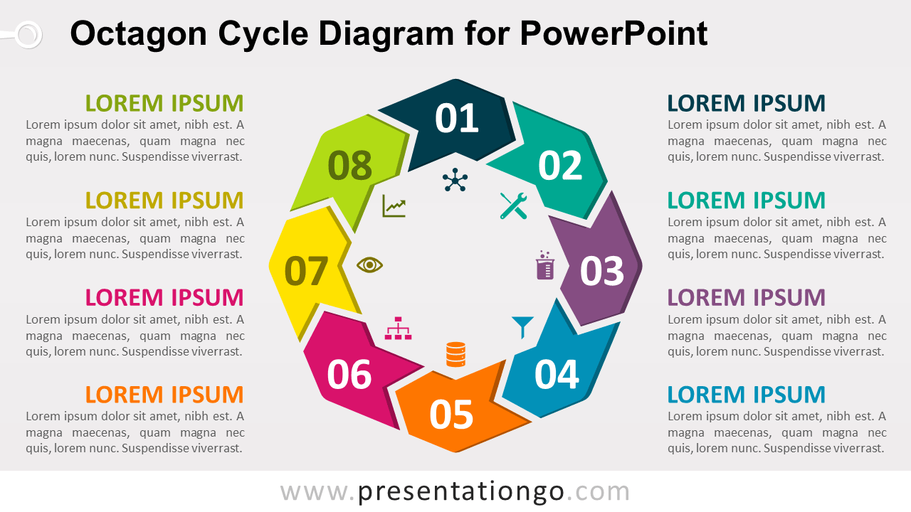 Free Octagon Cycle for PowerPoint