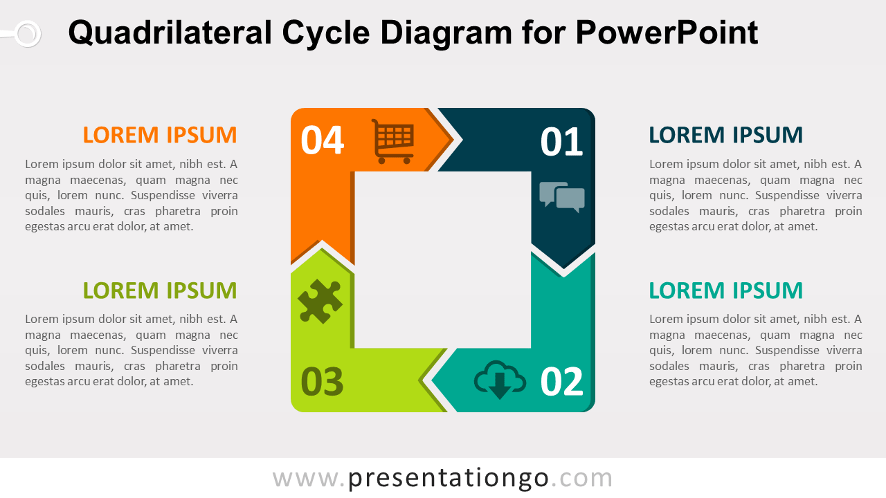 Free Quadrilateral Cycle for PowerPoint