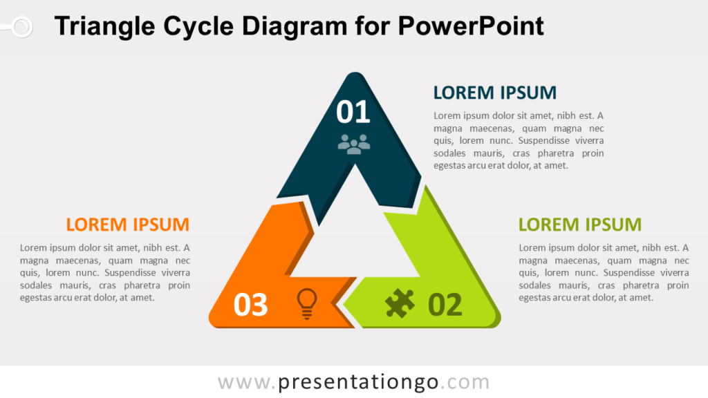 Free Triangle Cycle for PowerPoint