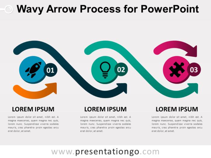 Free Wavy Arrow Process for PowerPoint