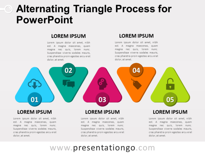 Free Alternating Triangle Process for PowerPoint