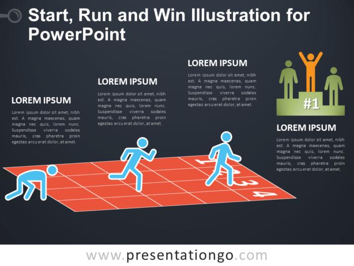 Start, Run and Win for PowerPoint - Dark Background