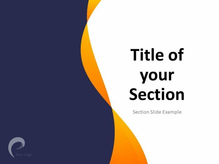 Modern Business PowerPoint Template - Section Slide