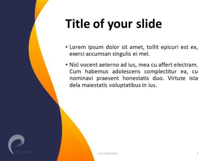 Modern Business PowerPoint Template - Title and Content Slide