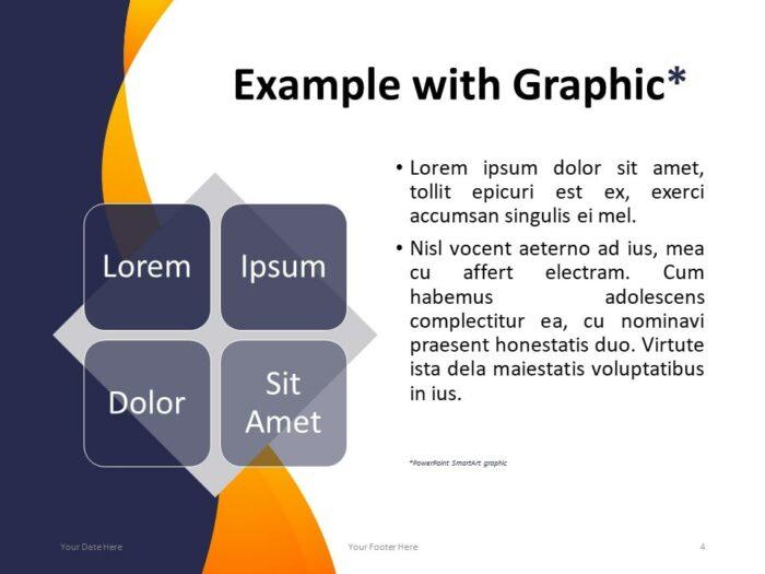 Modern Business PowerPoint Template - SmartArt Example