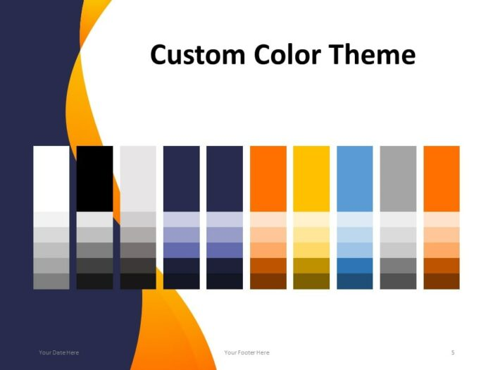 Modern Business PowerPoint Template - Color Theme