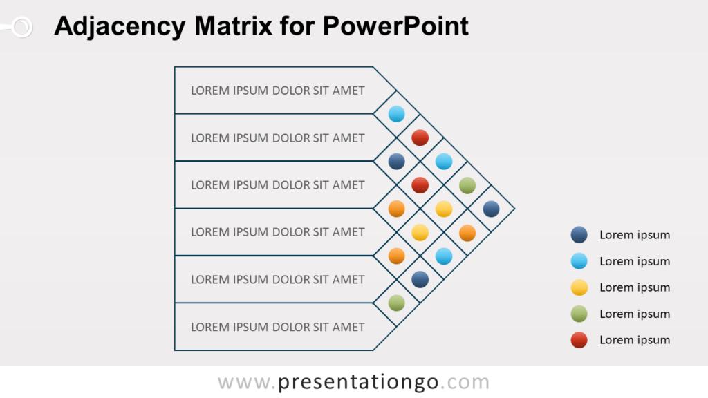 Adjacency Matrix for PowerPoint