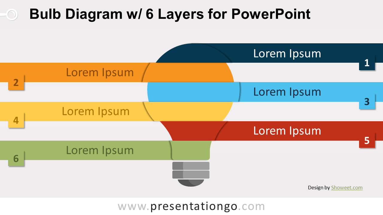 Free Bulb with 6 Layers for PowerPoint
