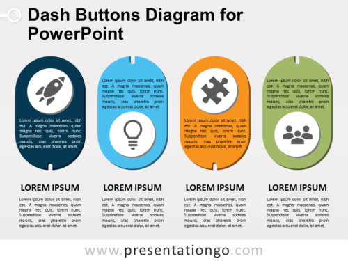 Dash Buttons - Free Diagram for PowerPoint