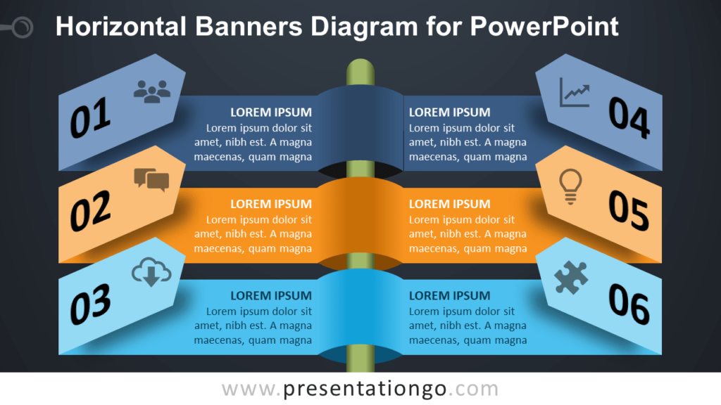 Free Horizontal Banners for PowerPoint - Dark Background