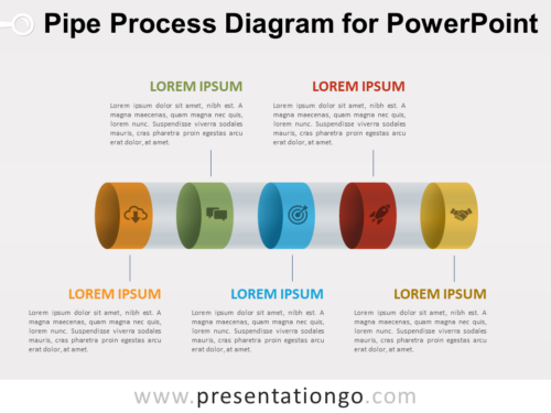 Free Pipe Process Diagram for PowerPoint