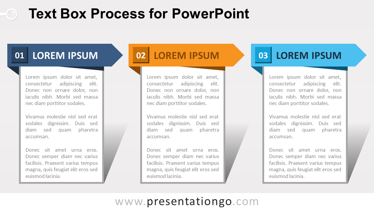 Free Text Box Process Diagram for PowerPoint