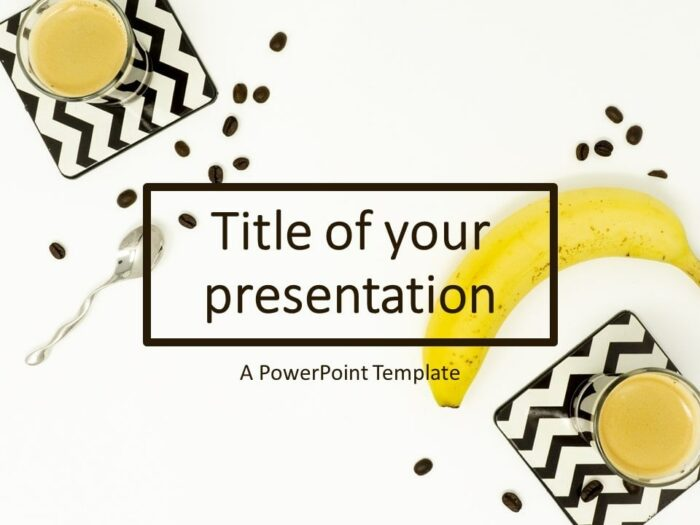 Free Flat Lay Banana and Coffee PowerPoint Template