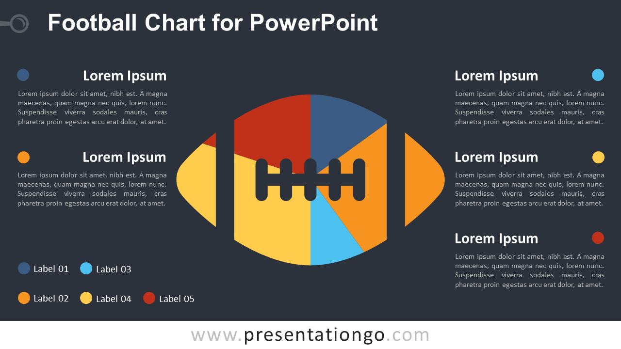 Football Chart for PowerPoint - Dark Background