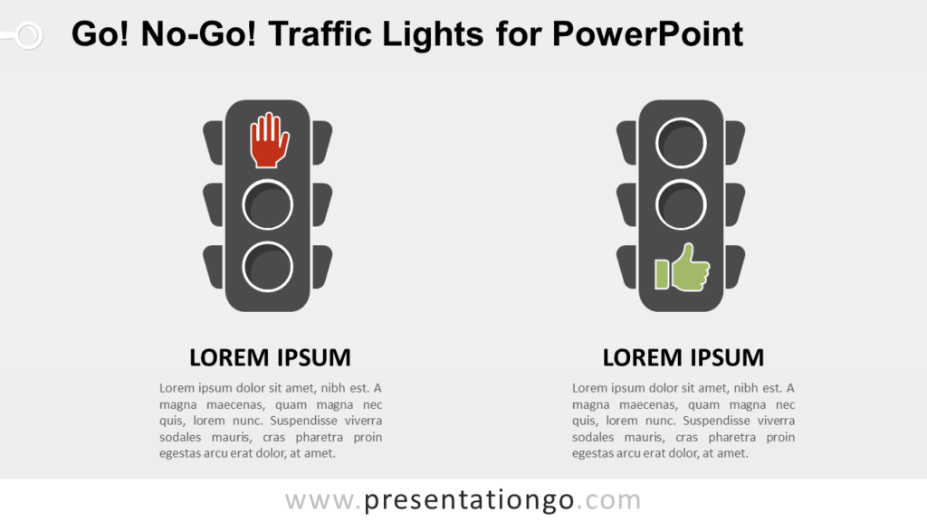 Free Go, No-Go Traffic Lights Comparison for PowerPoint