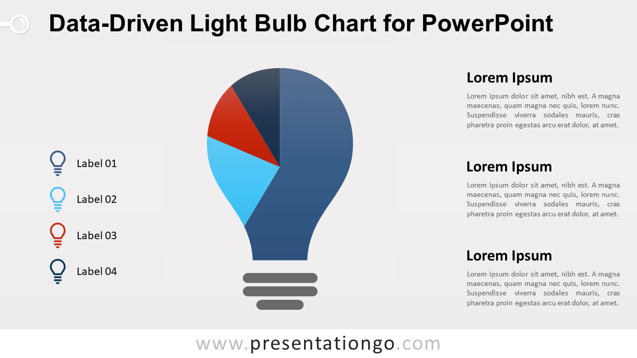 Free Light Bulb Chart for PowerPoint