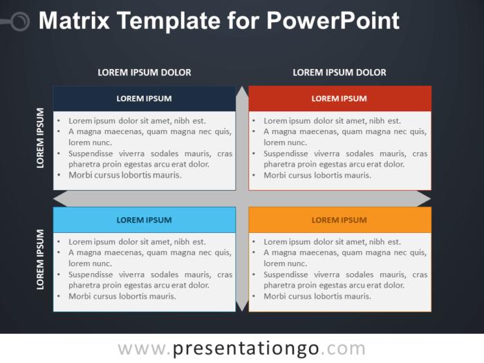 Free Matrix Template for PowerPoint - Dark Background