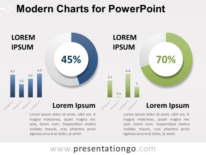 Free Modern Charts for PowerPoint