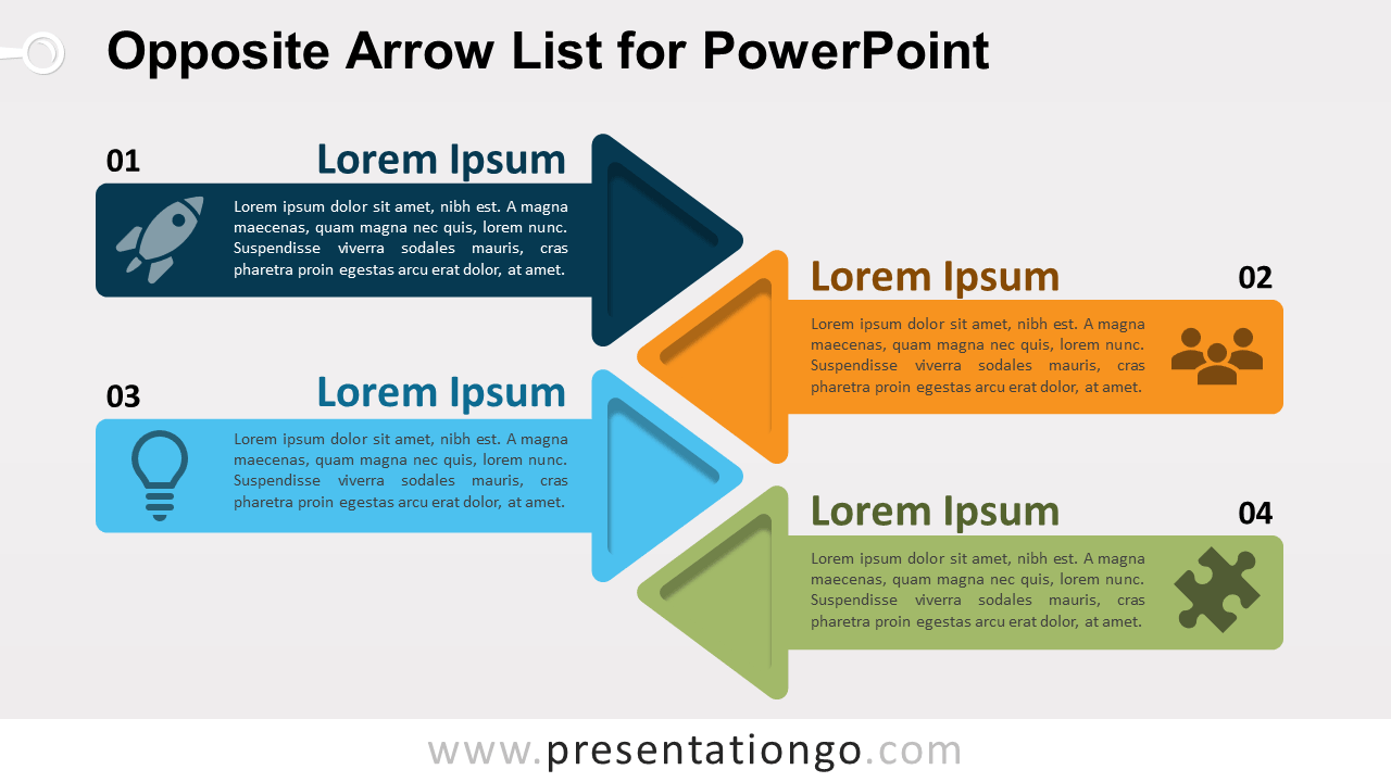 Opposite Arrows for PowerPoint