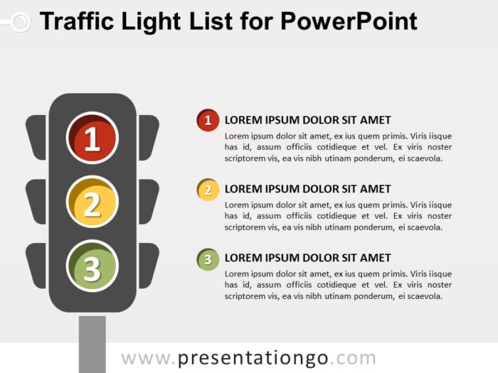 Free Traffic Light List for PowerPoint