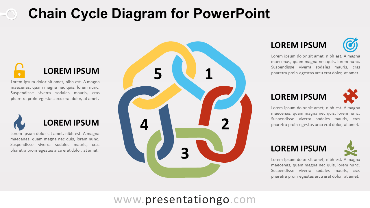 Free Chain Cycle for PowerPoint